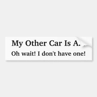 Lustiges KRW mein anderes Auto ist Autoaufkleber