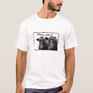 Lustiges Kuh-T-Shirt mit Sprichwort T-Shirt