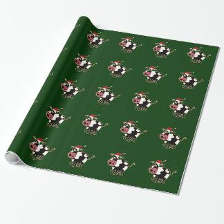 Lustiges Kuh-WeihnachtsPackpapier Geschenkpapier