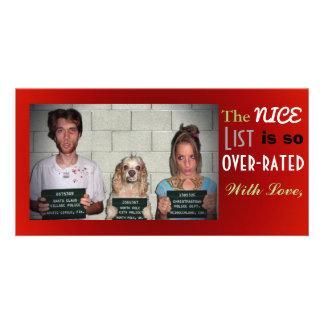 Lustiges kundengerechtes Familien-Foto-Weihnachten Fotokartenvorlagen