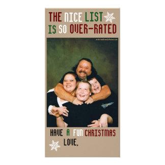 Lustiges kundengerechtes Weihnachten Photo Grußkarte