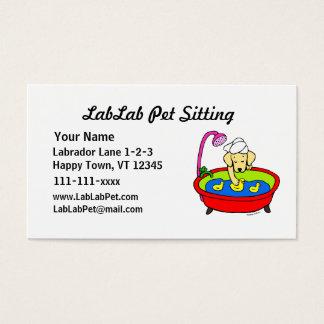 Lustiges Labrador-Cartoon-Haustier-Sitzen Visitenkarte