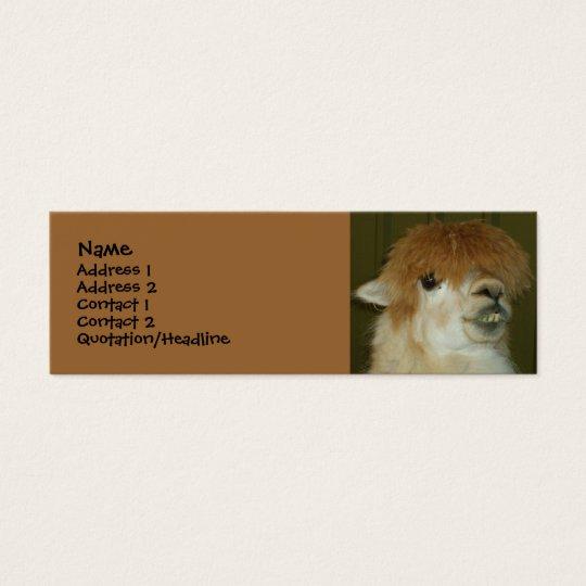 Lustiges Lama Mini Visitenkarte