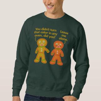 Lustiges Lebkuchen-Fake-TAN-Weihnachten hässlich Sweatshirt