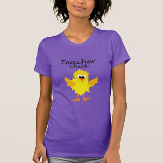 Lustiges Lehrer-Küken-Cartoon-Shirt T-Shirt