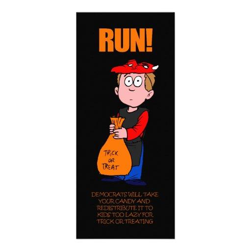 Lustiges Lesezeichen Anti-Obama Halloween Personalisierte Ankündigungskarte