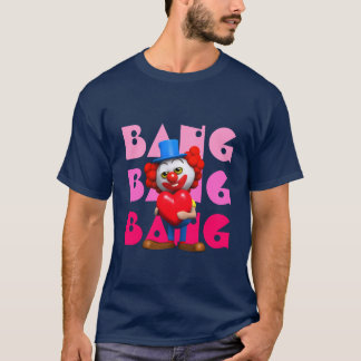 Lustiges Liebe-Herz des Clown-3d T-Shirt