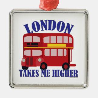 Lustiges London nehmen mich höher Silbernes Ornament