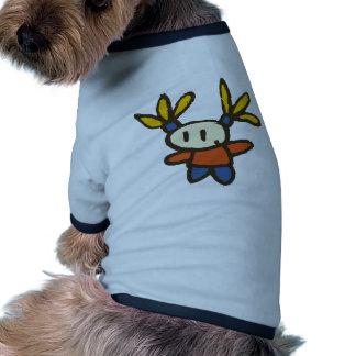 Lustiges Mädchen Hund T-shirt
