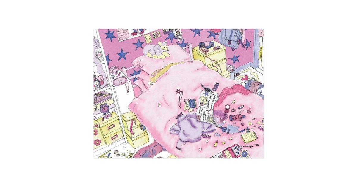 Lustiges m dchen jugendlich schlafzimmer rosa von for Zimmer jugendlich madchen