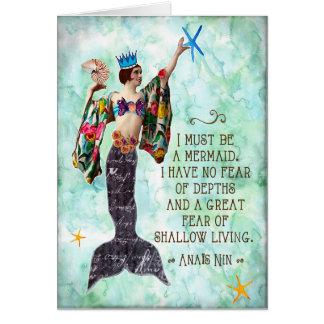 lustiges Meerjungfrauzitat notecard anais nin Karte