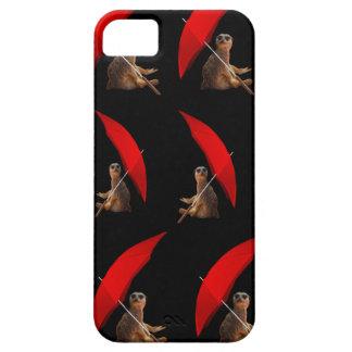 Lustiges Meerkat unter Regenschirm-Muster, iPhone 5 Schutzhülle