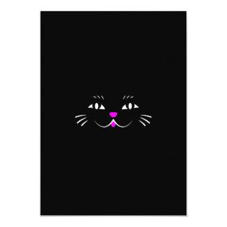 Lustiges Miezekatze-Katzen-Gesicht 12,7 X 17,8 Cm Einladungskarte