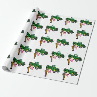 Lustiges Militär 4WD Geschenkpapier