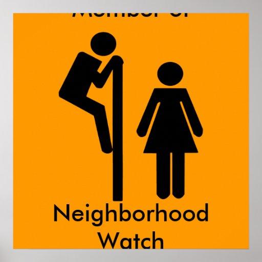 Lustiges Mitglied der Nachbarschaftswache-Sicherhe