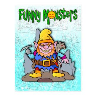 lustiges Monster Postkarten