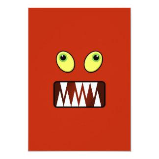 Lustiges Monstergesicht 12,7 X 17,8 Cm Einladungskarte