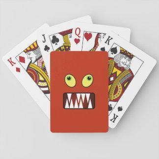 Lustiges Monstergesicht Spielkarten