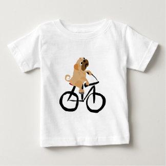Lustiges Mops-Welpen-Hundereitfahrrad Baby T-shirt