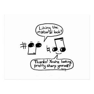 Lustiges Musical beglückwünscht Cartoon: Version Postkarte