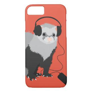 Lustiges Musikfreund-Frettchen iPhone 8/7 Hülle