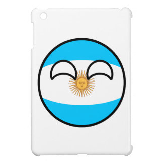 Lustiges neigendes Geeky Argentinien Countryball iPad Mini Hülle