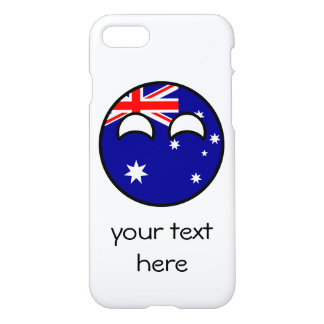 Lustiges neigendes Geeky Australien Countryball iPhone 8/7 Hülle