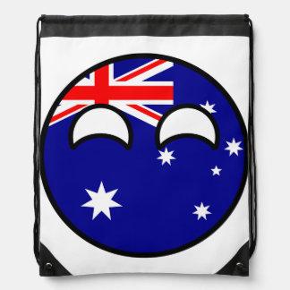 Lustiges neigendes Geeky Australien Countryball Turnbeutel
