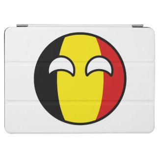 Lustiges neigendes Geeky Belgien Countryball iPad Air Hülle