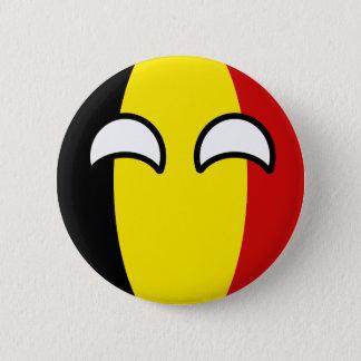 Lustiges neigendes Geeky Belgien Countryball Runder Button 5,7 Cm