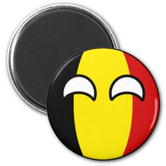 Lustiges neigendes Geeky Belgien Countryball Runder Magnet 5,7 Cm