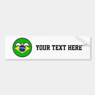 Lustiges neigendes Geeky Brasilien Countryball Autoaufkleber