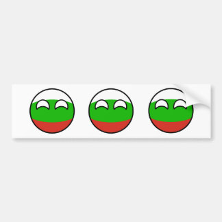Lustiges neigendes Geeky Bulgarien Countryball Autoaufkleber