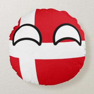 Lustiges neigendes Geeky Dänemark Countryball Rundes Kissen