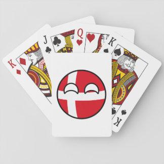 Lustiges neigendes Geeky Dänemark Countryball Spielkarten
