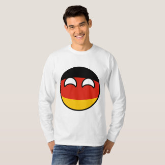 Lustiges neigendes Geeky Deutschland Countryball T-Shirt