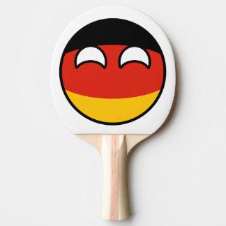 Lustiges neigendes Geeky Deutschland Countryball Tischtennis Schläger
