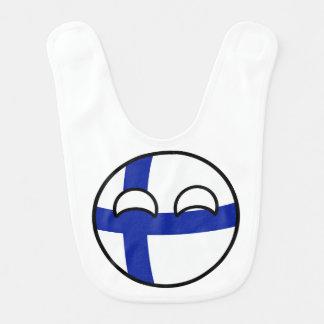 Lustiges neigendes Geeky Finnland Countryball Lätzchen
