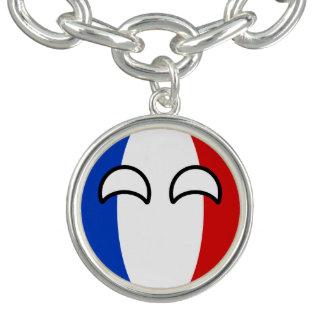 Lustiges neigendes Geeky Frankreich Countryball Armbänder