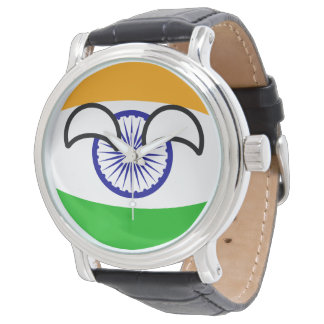 Lustiges neigendes Geeky Indien Countryball Uhr