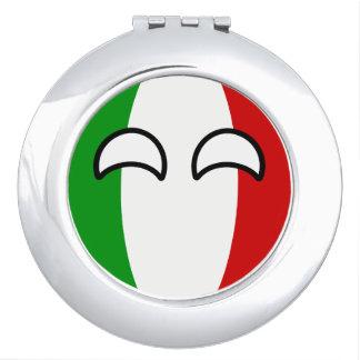 Lustiges neigendes Geeky Italien Countryball Taschenspiegel