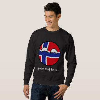 Lustiges neigendes Geeky Norwegen Countryball Sweatshirt