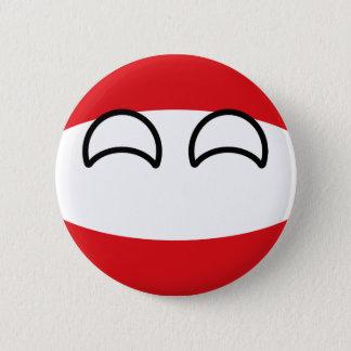Lustiges neigendes Geeky Österreich Countryball Runder Button 5,1 Cm
