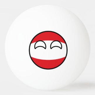 Lustiges neigendes Geeky Österreich Countryball Tischtennis Ball