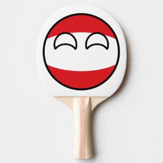 Lustiges neigendes Geeky Österreich Countryball Tischtennis Schläger