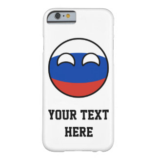 Lustiges neigendes Geeky Russland Countryball Barely There iPhone 6 Hülle