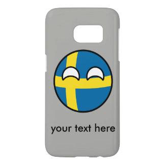 Lustiges neigendes Geeky Schweden Countryball