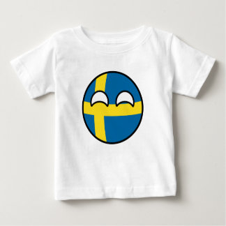 Lustiges neigendes Geeky Schweden Countryball Baby T-shirt