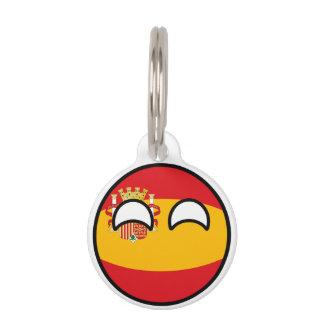 Lustiges neigendes Geeky Spanien Countryball Haustiermarke