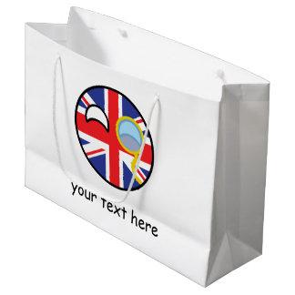 Lustiges neigendes Geeky Vereinigtes Königreich Große Geschenktüte
